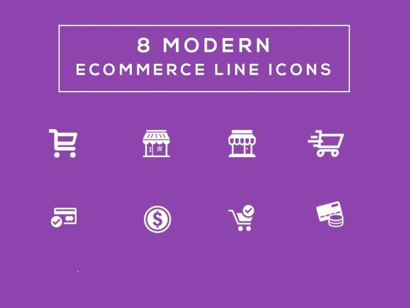 8 Free Ecommerce Line Icons