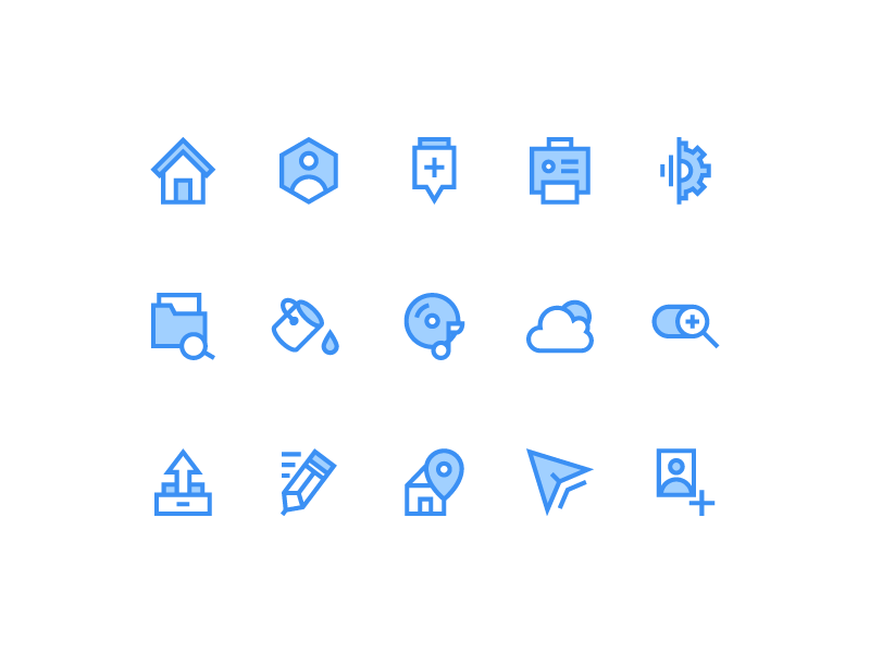 20 Free Flat Icons For Web