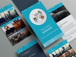 Free News App UI PSD