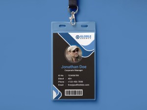Free Office ID Card PSD Template