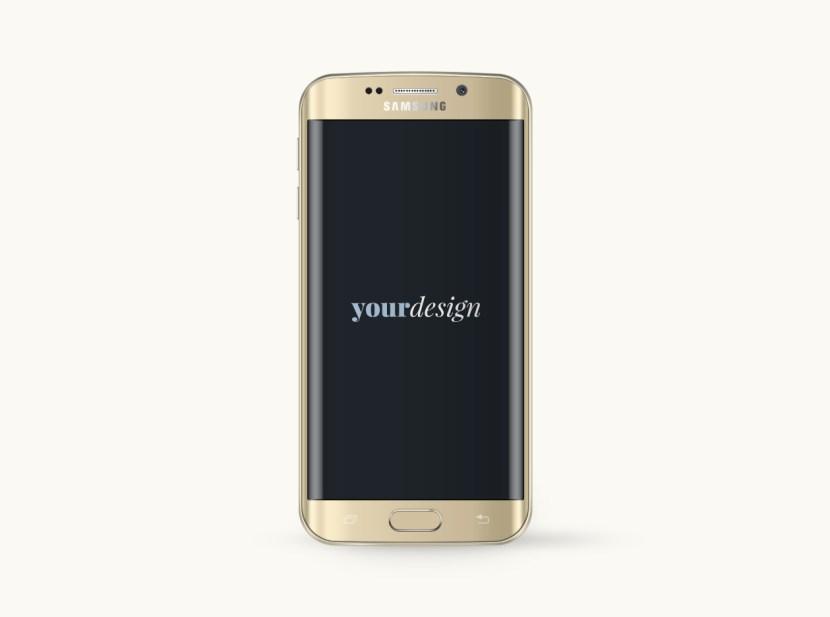 Samsung Galaxy S6 Edge Mock-up PSD