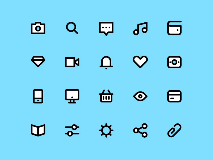 Free Stroke Icon Set PSD