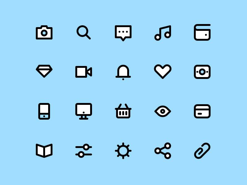 Free Stroke Icon Set PSD