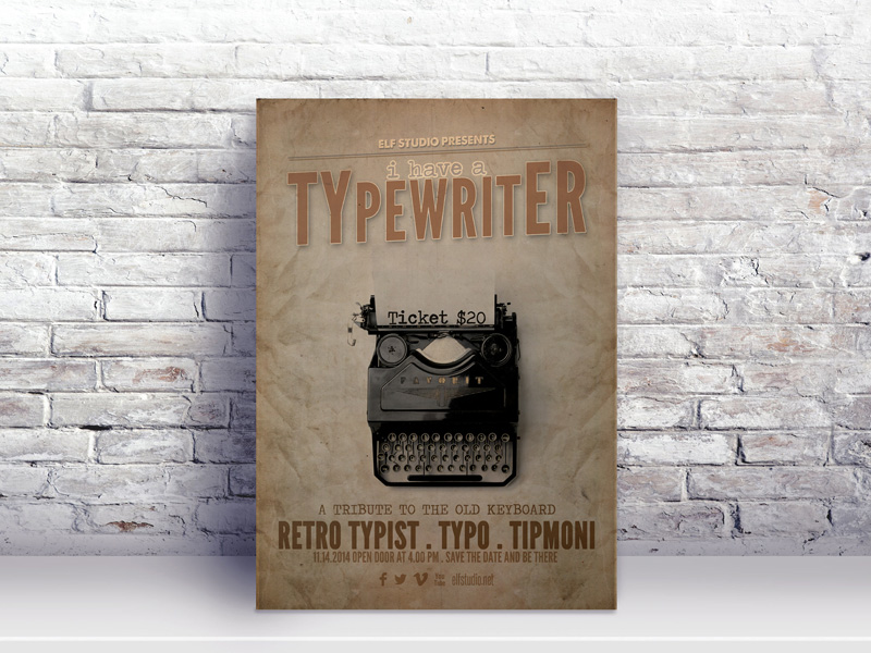 Free Vintage Poster Template