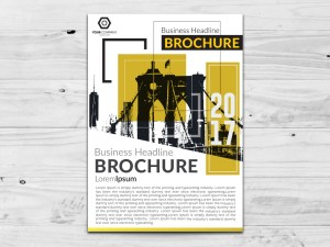 Free Yellow Flyer Vector Template