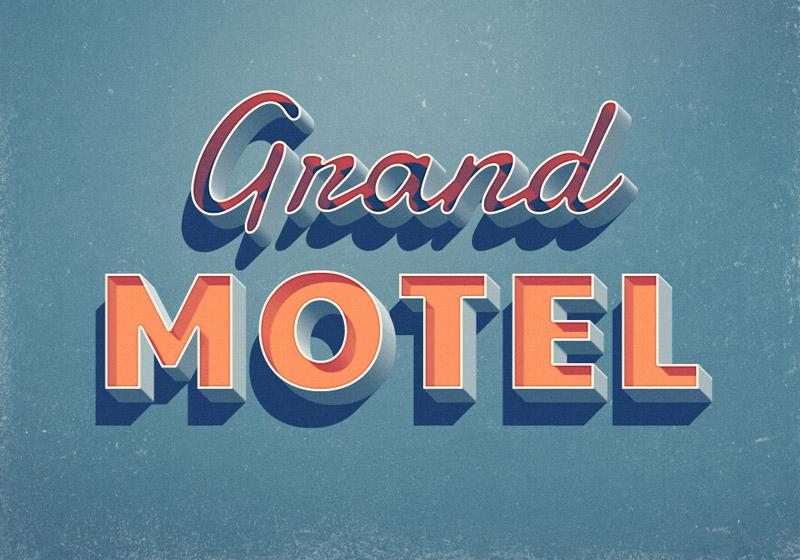 Grand Motel Retro Text Effect