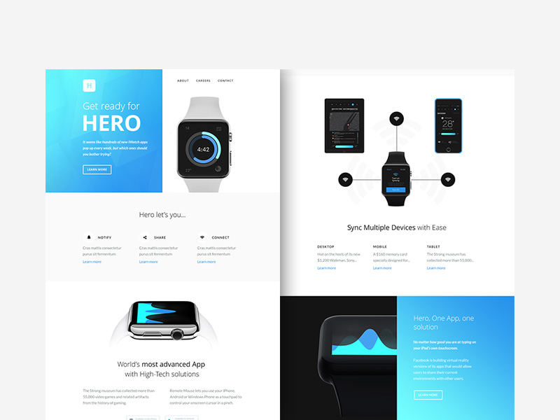 Hero : Free Responsive Newsletter PSD Template