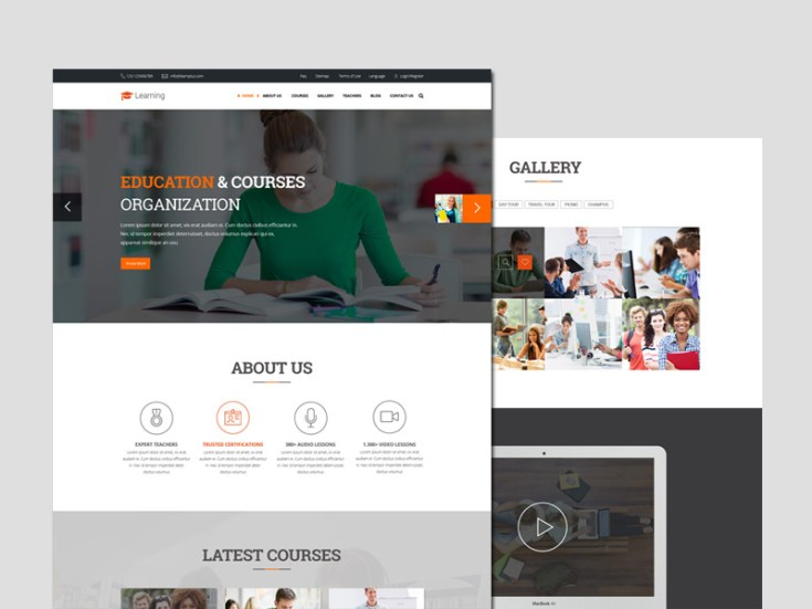 Free Learing PSD Web Template