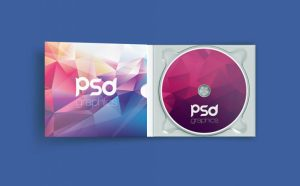 Free Open CD Case Mockup