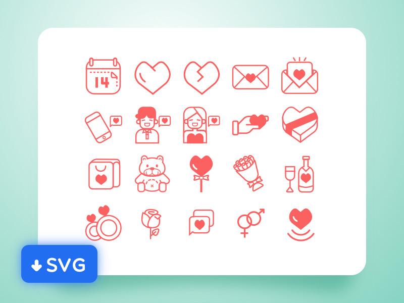 Outline Valentine icon