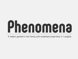 Phenomena : Free Modern Sans Serif Font