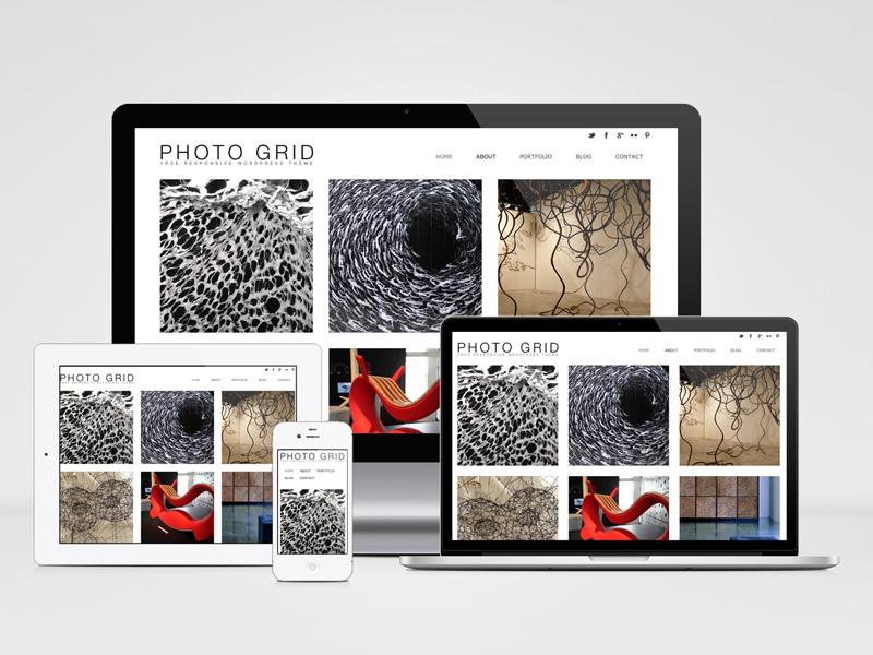 Photo Grid : Free Responsive Photography WP Theme