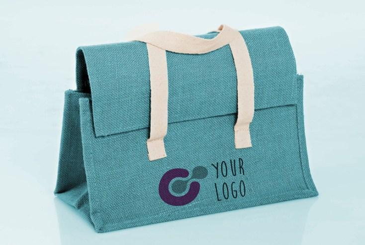 Free Raw Cloth bag Mockup PSD
