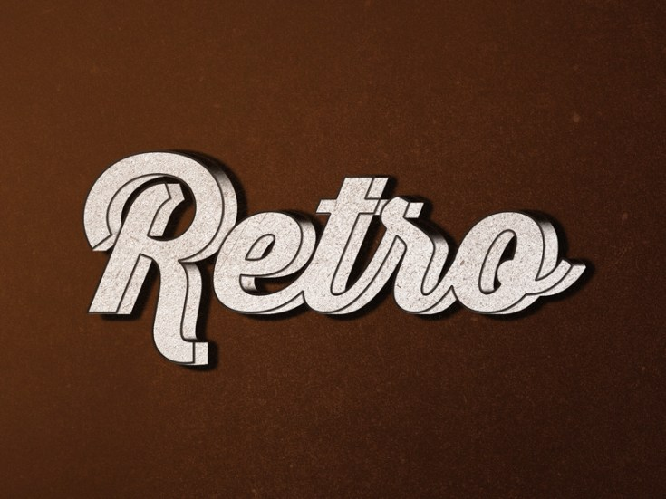 Free Retro Type Effect PSD