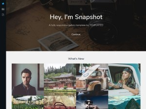 snapshot : Clean Photography HTML5 Template