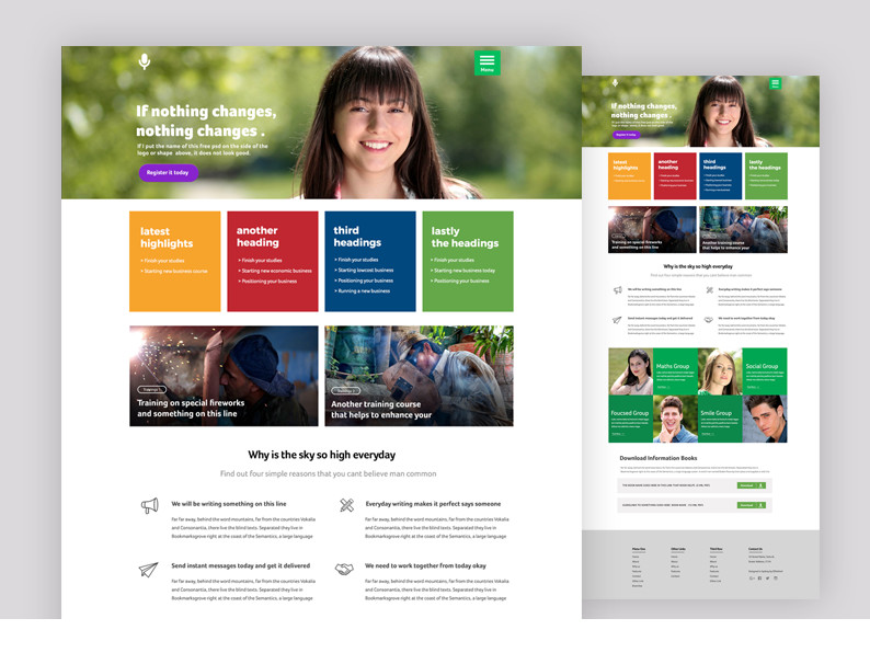 Maya : Course and Education PSD Template