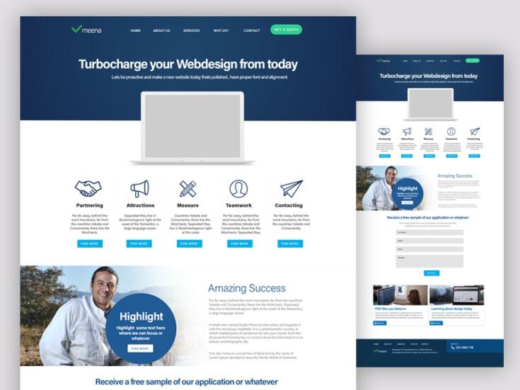 Web Application PSD Template