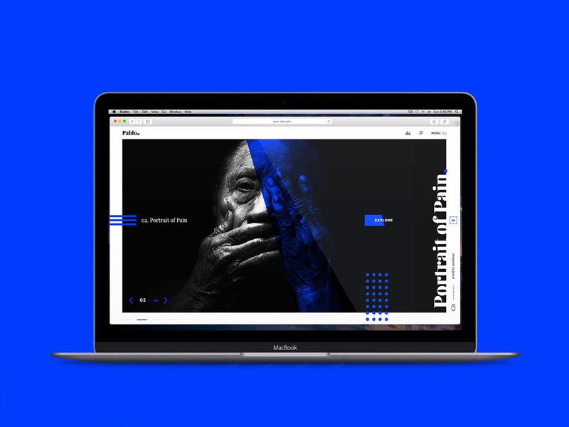 Pablo – Free Photography Portfolio PSD Template