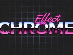 80's Retro Chrome Text Effect