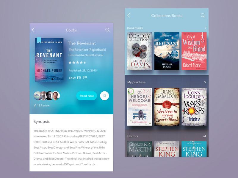Book Store App UI Design