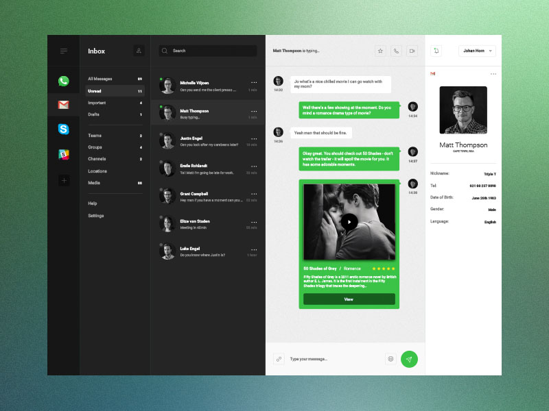 Desktop & Mobile Admin Template Sketch