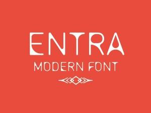Entra Free Modern Typeface
