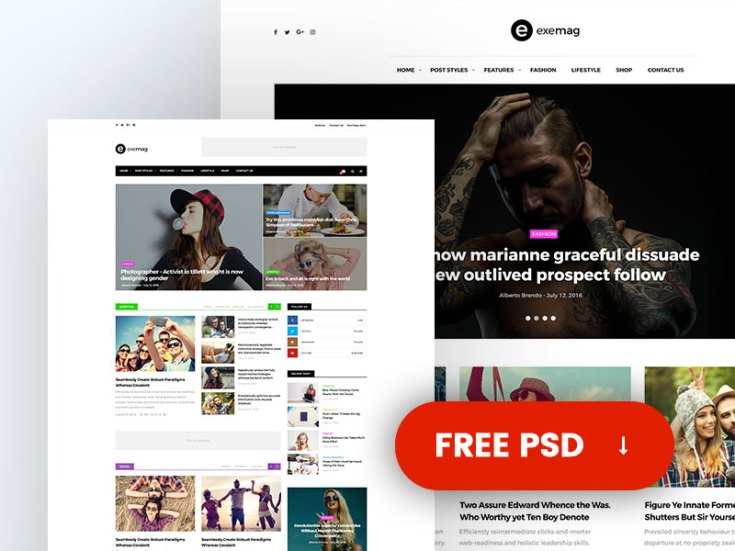 Exemag Magazine Web Template