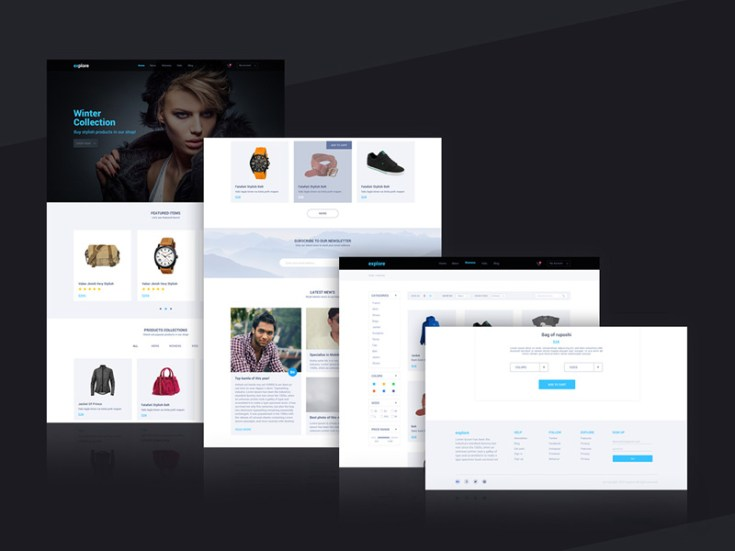 Explore Flat Ecommerce Template