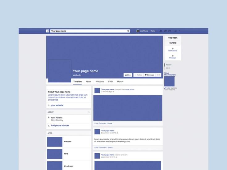 Facebook Fans Page Mockup