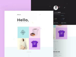 Folio PSD Website Template
