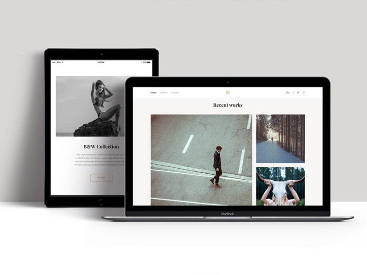 Free Portfolio PSD Template for Photographer