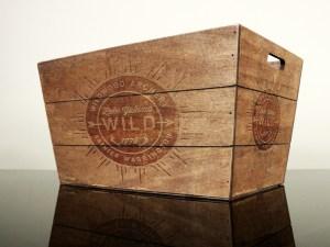 Free Vintage Wood Box Mockup PSD