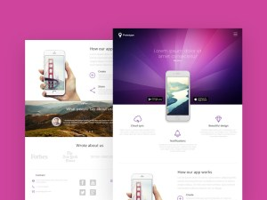 Mobile Application Landing Page Template