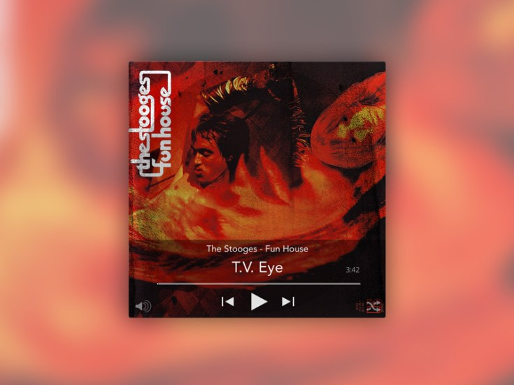 Free Music Player Widget UI