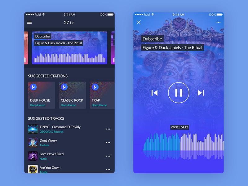 Stylish Music Player App UI