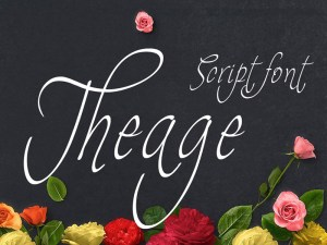 Theage script font
