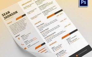 Ziper Free PSD Resume Template