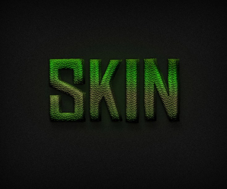 Dinosaur Skin Text Effect
