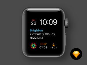 Apple Watch Faces Modular (Sketch)