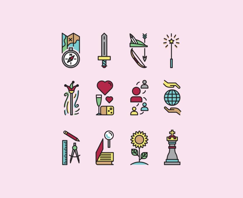 Archetype Symbol Icon Set