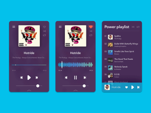 Audio Player UI Design