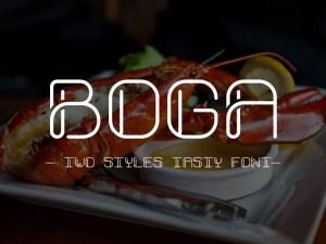 Boga Free Typeface