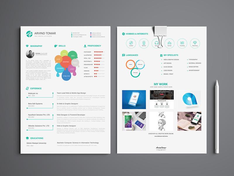 CV Resume Template (Illustrator)