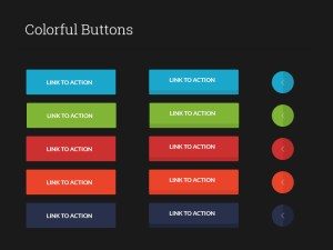 Free Colorful Buttons UI PSD