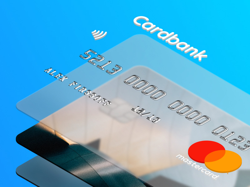 Credit Card PSD Mockup for Ecommerce Project
