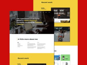 Designer Portfolio Website Template