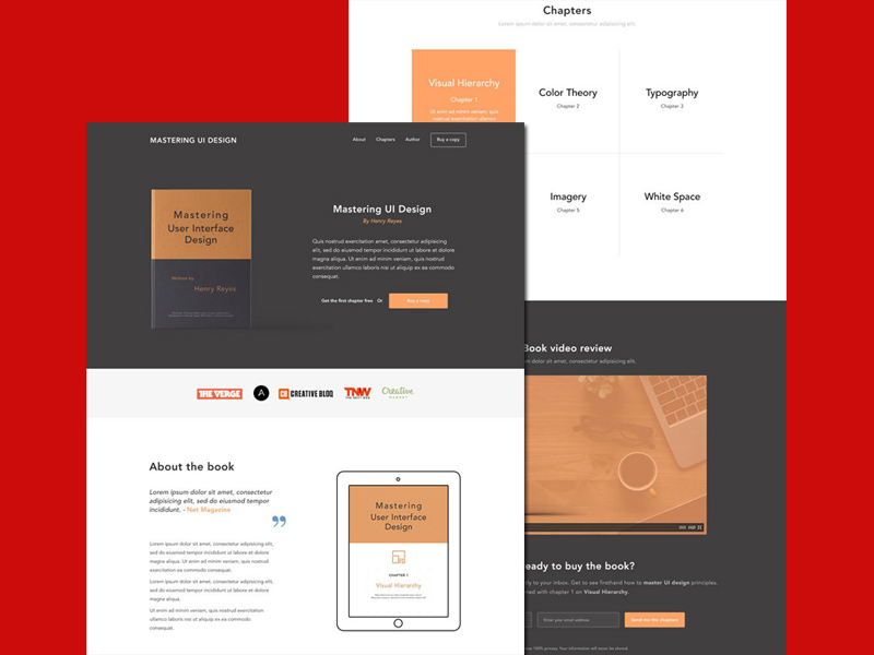 Ebook Landing Page Website Template