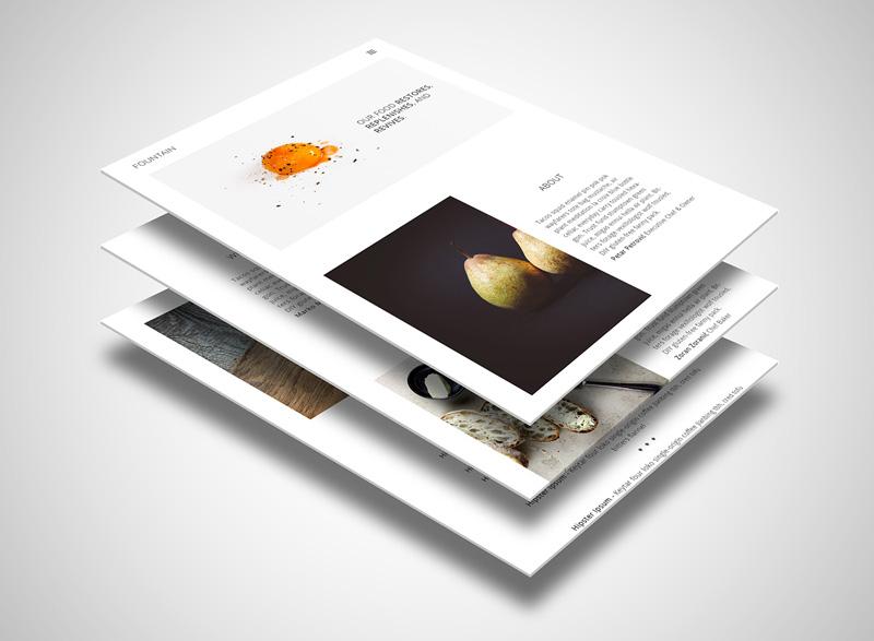 Fountain : Minimal PSD Web Template