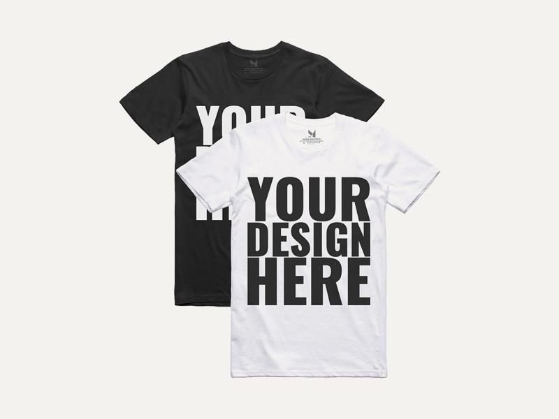 Free Black & White T-shirt Mockups