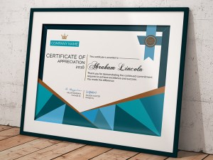 Free Certificate Template PSD